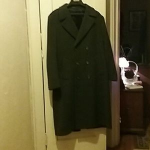 London Fog Men's Double Breasted Wool Coat NWOT